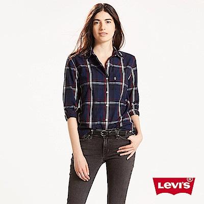 Levis 襯衫 女款 深藍格紋