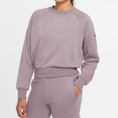 NIKE 上衣 大學T 長袖上衣 運動 背後口袋 女款 藕紫色 CZ8891531 AS W NSW SWSH CREW FT