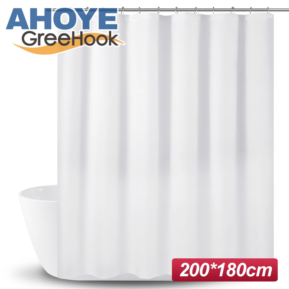 GreeHook PEVA加厚防水浴簾 180*200cm -白色