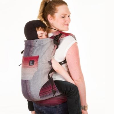 加拿大 Chimparoo Trek toddler 幼童揹帶 - 編織款 , 塗鴉灰