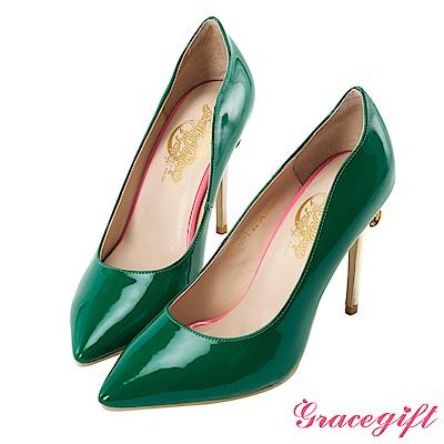 Grace gift-美少女戰士變身器漆皮細高跟鞋 綠