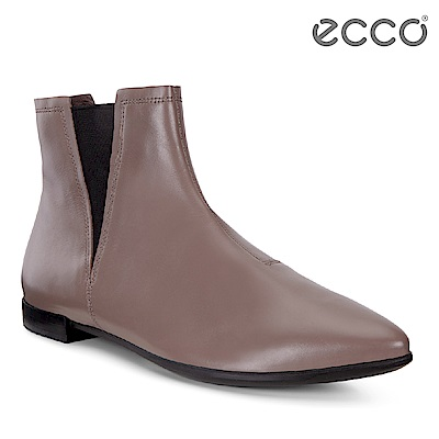 ECCO SHAPE POINTY 經典英式切爾西平底短靴 女-棕