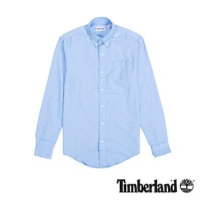 Timberland 男款淺藍色修身版襯衫