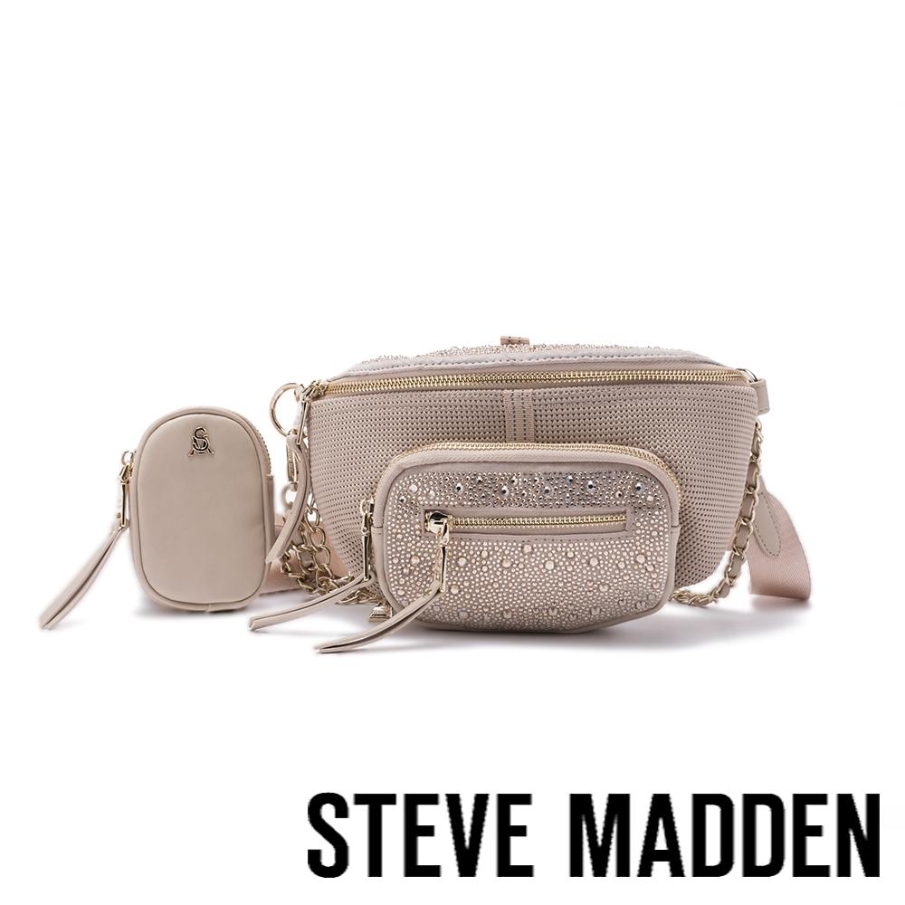 STEVE MADDEN-BMAXIMA 鑽飾金鏈三合一子母包-粉膚色