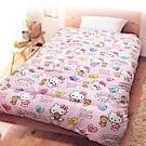 享夢城堡 法蘭絨暖暖毯被150x195cm-HELLO KITTY 女孩風-粉