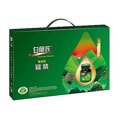 白蘭氏 傳統雞精禮盒-附提把(70g/瓶 x 12入)