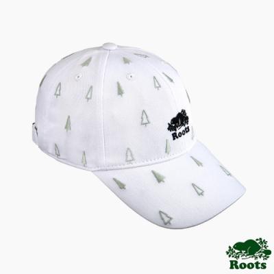 Roots配件-森林元素印花棒球帽-白色