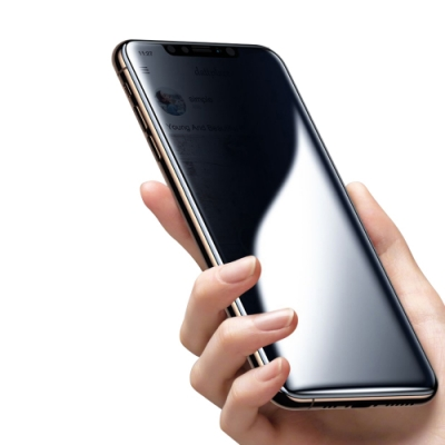 iPhone 11 絲印 滿版 高清防窺 9H 鋼化玻璃膜