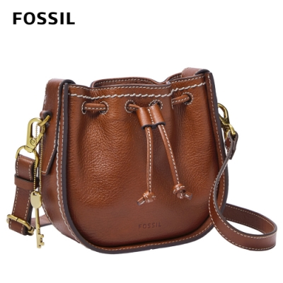 【FOSSIL】Palmer 真皮束口迷你小籠包-棕色 ZB6500200(斜背、腰包兩用)