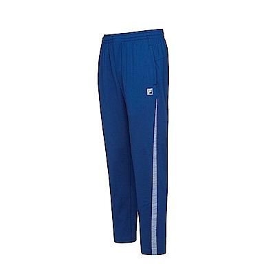 FILA 男款抗UV吸濕排汗針織長褲-藍 1PNS-5305-BU