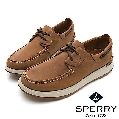 SPERRY 紳士休閒手工縫製帆船鞋(男)-棕