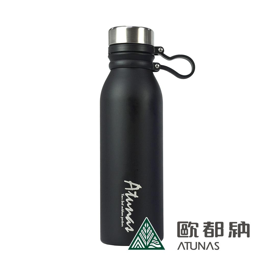 【ATUNAS 歐都納】不鏽鋼運動真空保溫瓶600ml(A1KTAA02N黑)