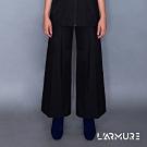 L'ARMURE 女裝 Ultra-Light側條裝飾寬褲 (黑色)