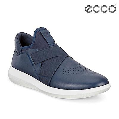 ECCO SCINAPSE MEN S 潮流襪套緩震運動鞋 男 藍