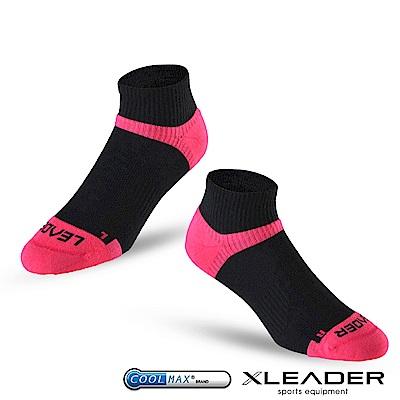 LEADER ST-06 Coolmax專業排汗除臭 機能運動襪 女款 黑桃 - 急