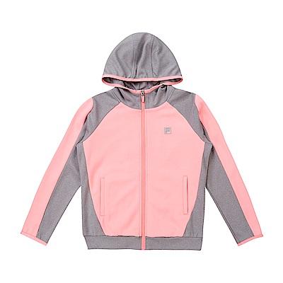 FILA KIDS 童吸濕排汗外套-粉紅 5JKS-8320-PK