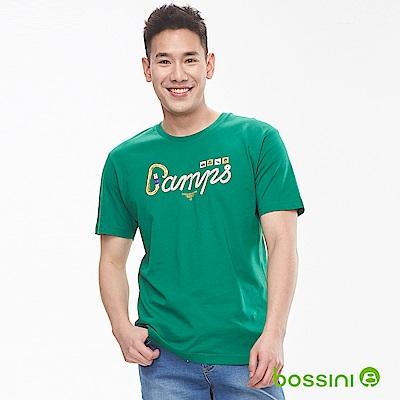 bossini男裝-印花短袖T恤11蘋果綠