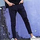 onizi彈力割破窄管休閒褲-男-深藍