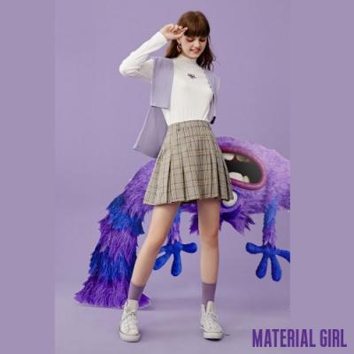MATERIAL GIRL 學院風格紋百摺短裙【20冬季款】-A4122
