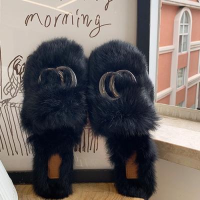 KEITH-WILL時尚鞋館-破盤價休閒樂活絨毛保暖拖鞋-黑色