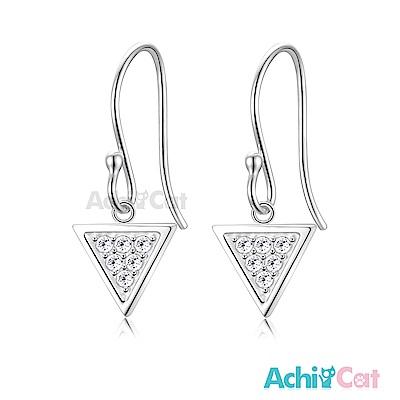 AchiCat 925純銀耳環 幾何三角 純銀耳環
