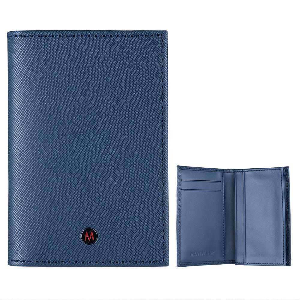 MONDAINE 瑞士國鐵國徽系列名片夾-藍