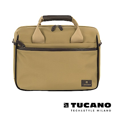 TUCANO EDGE 時尚側背手提二用包 13吋-卡其