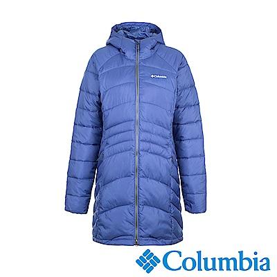 Columbia哥倫比亞 女款-長版羽絨大衣-紫色 UWK01490PL