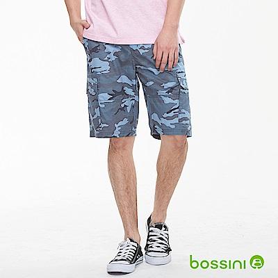 bossini男裝-迷彩口袋休閒短褲01藍