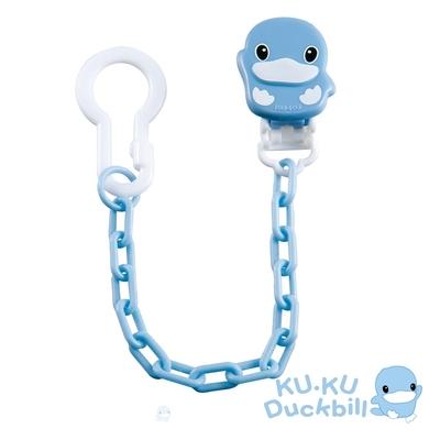 KUKU酷咕鴨 造型奶嘴鍊(藍/粉)