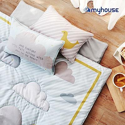 【BabyTiger虎兒寶】Myhouse  韓國防蟎兒童睡袋 - 雲朵藍