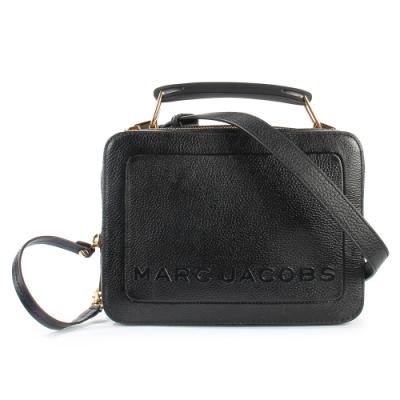 MARC JACOBS 經典THE BOX 23雙拉鍊手提斜背兩用包-黑色
