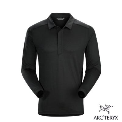Arcteryx 始祖鳥 男 24系列 A2B 羊毛 長袖POLO衫 黑