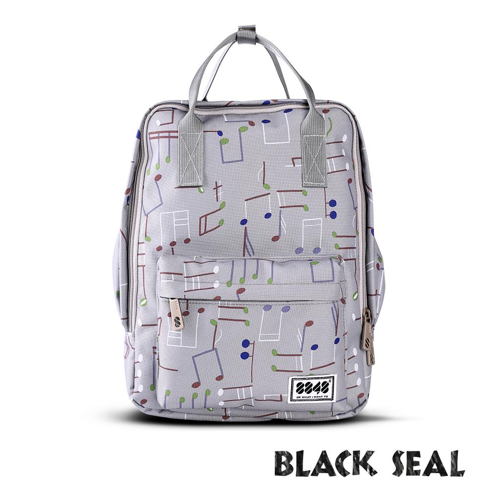 BLACK SEAL 聯名8848系列-多隔層休閒小方型後背包-象牙灰BS83008