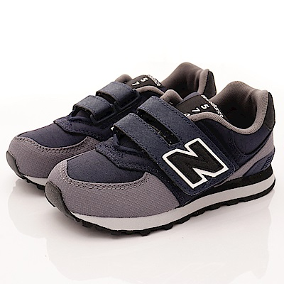 零碼-17.5 NewBalance童鞋 574後穩定機能鞋款QWY黑