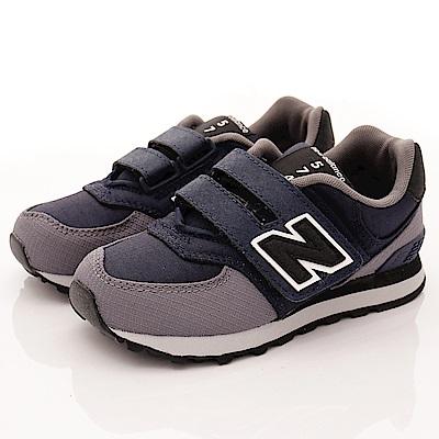 零碼-21cm NewBalance童鞋 574後穩定機能鞋款QWY黑