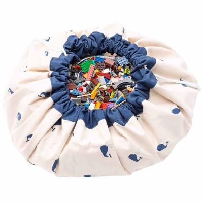 【比利時 Play & Go】玩具整理袋-藍色鯨魚