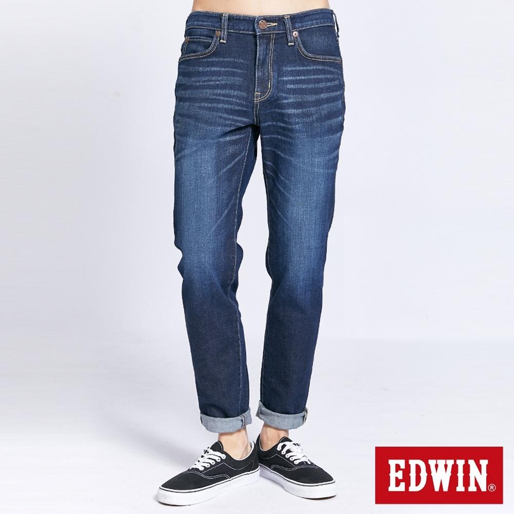 EDWIN 503 雙彈小直筒牛仔褲-男-中古藍