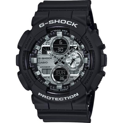 CASIO 卡西歐 G-SHOCK 人氣鋼色手錶(GA-140GM-1A1)