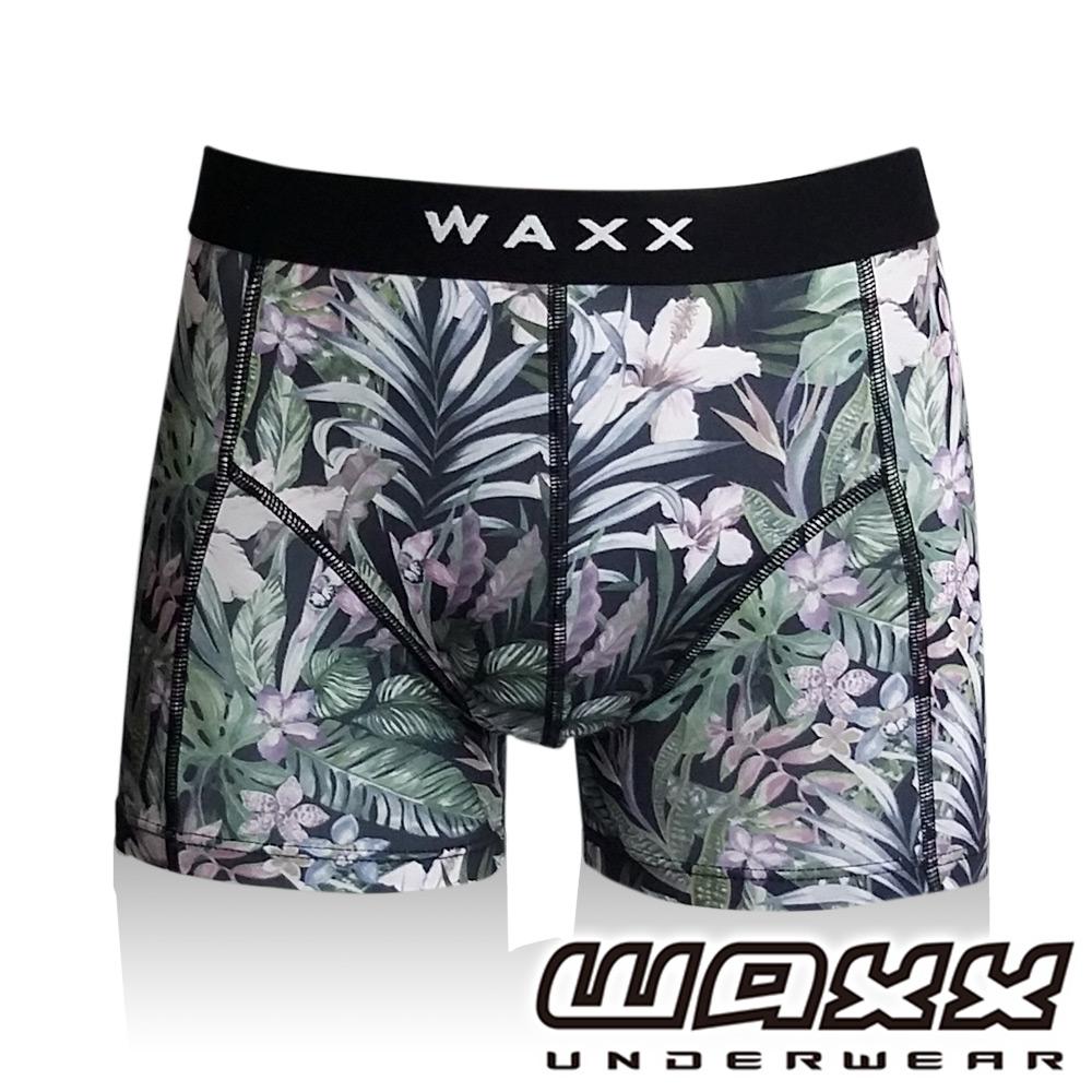 WAXX熱浪系列- 墨色百合運動快乾型男四角褲