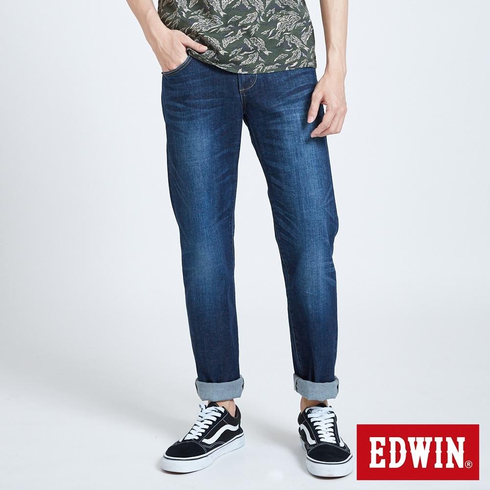 EDWIN 503 基本五袋中直筒牛仔褲-男-酵洗藍