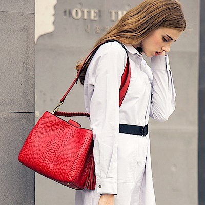 米蘭精品 手提包真皮肩背包-時尚高貴氣質鱷魚紋斜背女包母親節生日禮物3色73md72