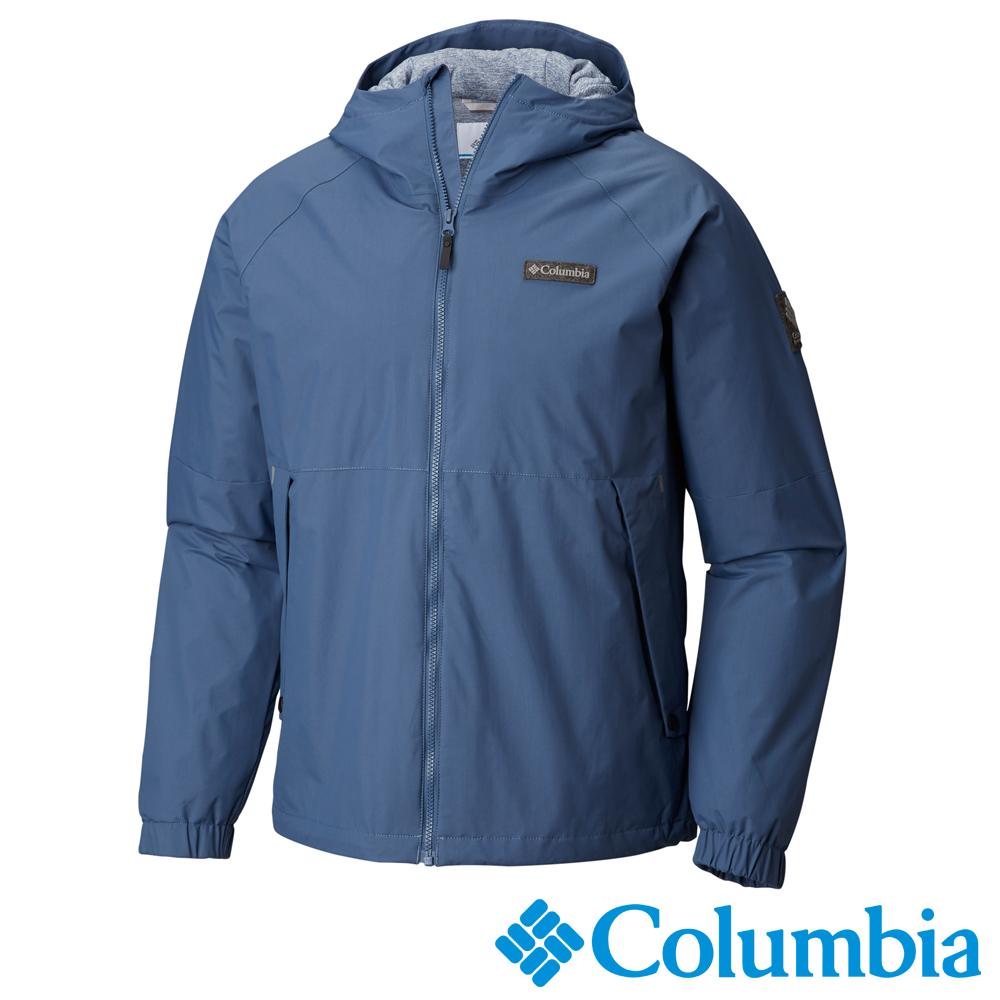 Columbia哥倫比亞 男款-Omni-Tech防水連帽外套-墨藍UWM12520