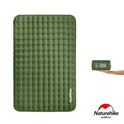 Naturehike 舒適雙人輕量加厚加寬TPU充氣睡墊 防潮墊 森林綠-急