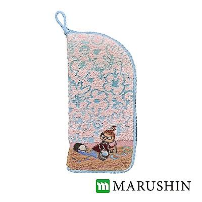 日本丸真 Moomin速吸雨傘水瓶拉鍊收納套-小不點花牆