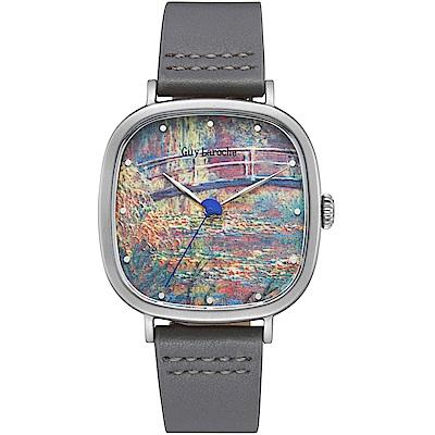 姬龍雪Guy Laroche Timepieces藝術系列腕錶-莫內