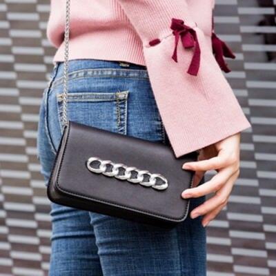米蘭精品 肩背包鏈條側背包-優雅小方包迷你女包情人節生日禮物3色73sb21