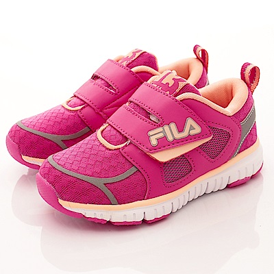 FILA頂級童鞋 輕量運動鞋款 EI25R-225桃粉(中小童段)