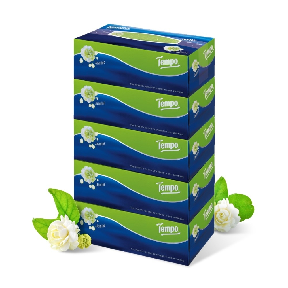 Tempo 3層加厚盒裝面紙-茉莉花