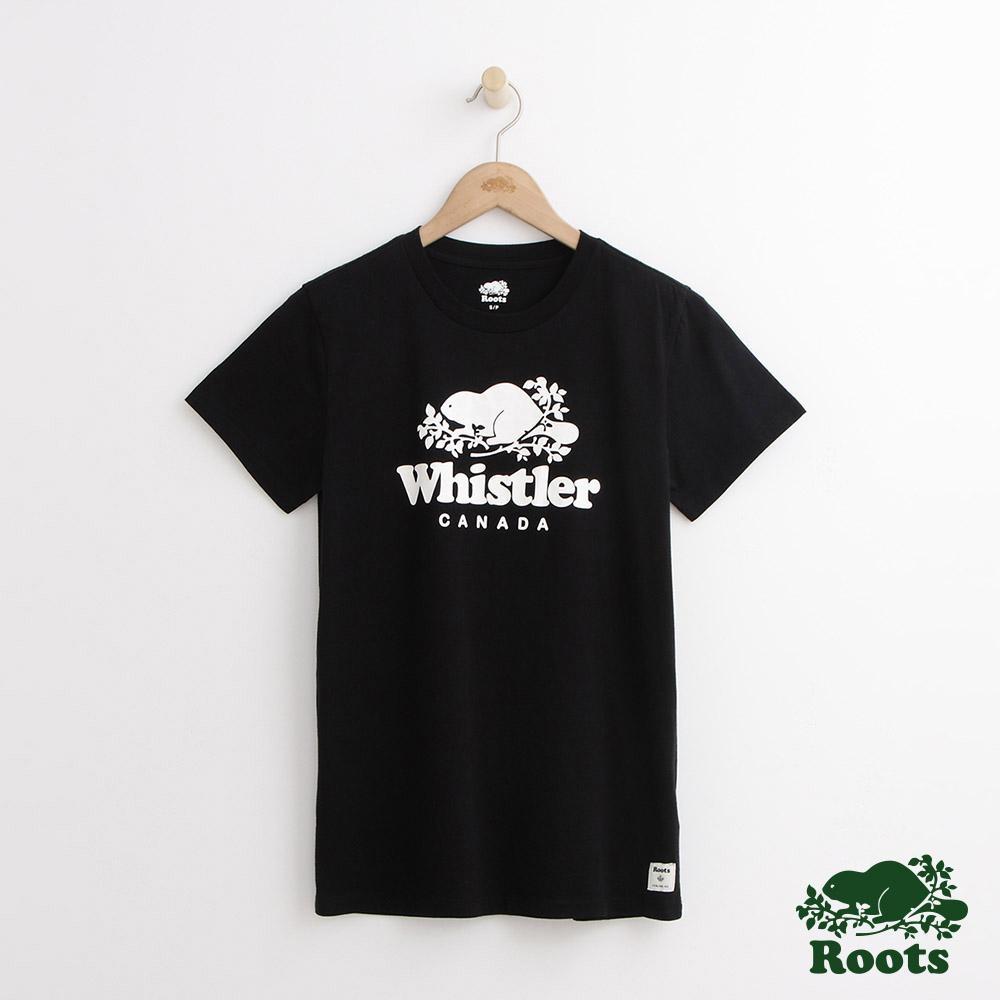 女裝Roots-惠斯勒城市短袖T恤-黑